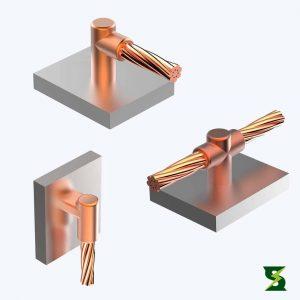 molde cable a superficie sistema puesta a tierra soldexel