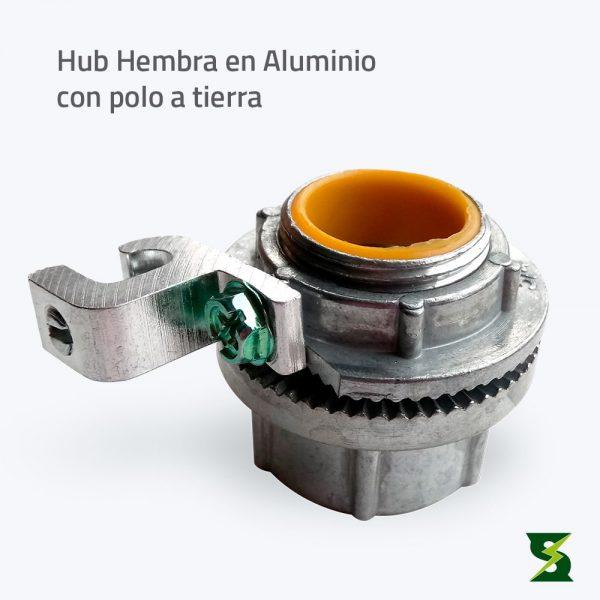 Hub Hembra En Aluminio soldexel 2
