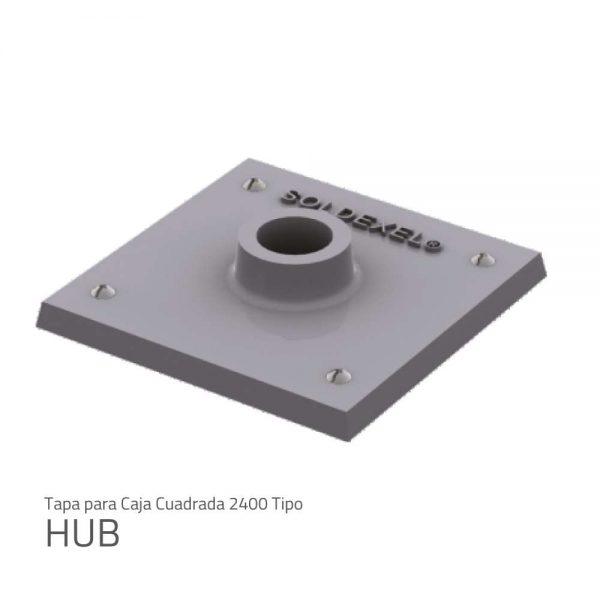 Tapa para caja cuadrada 2400 HUB 1