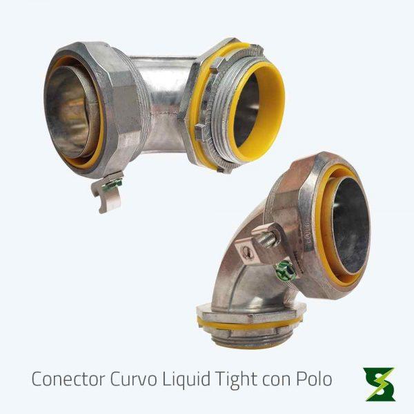 conector liquid tight curvo