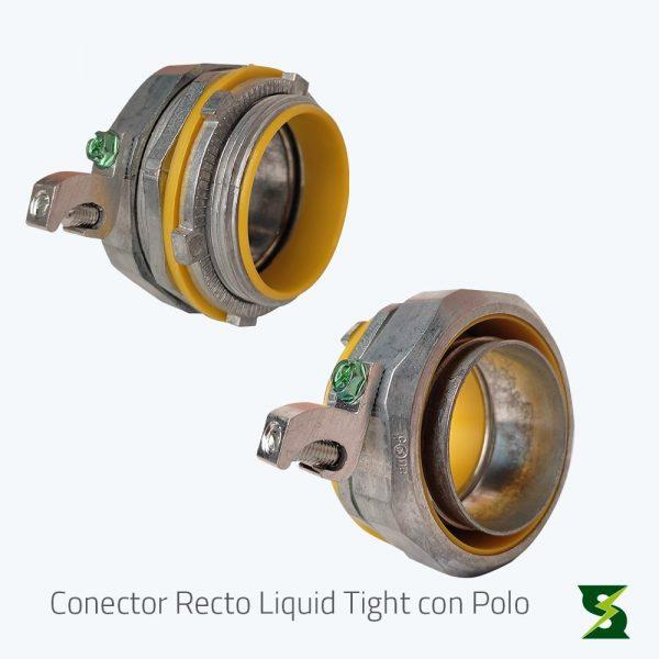conector liquid tight recto con polo