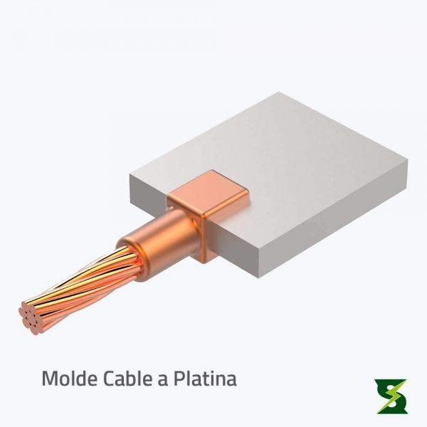molde cable a barraje sistema puesta a tierra soldexel