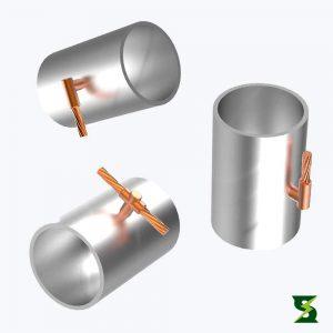 molde cable a tubo sistema puesta a tierra soldexel