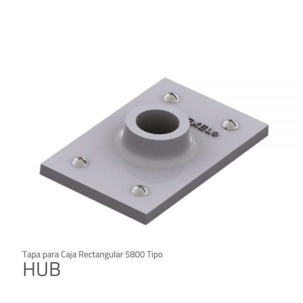 tapa para caja rectangular 5800 tipo HUB