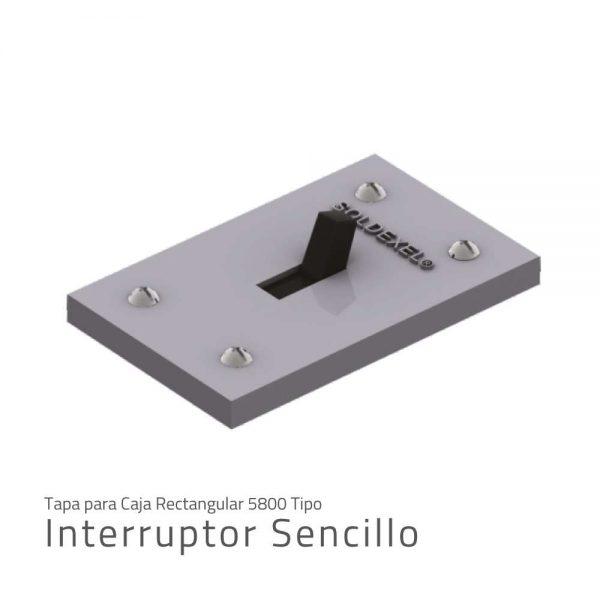 tapa para caja rectangular 5800 tipo interruptor sencillo