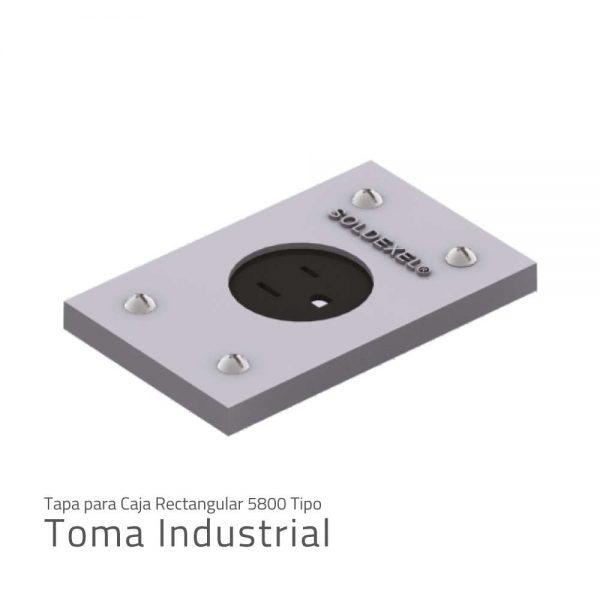 tapa para caja rectangular 5800 tipo toma industrial