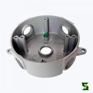 Caja Redonda Inyeccion Aluminio 2