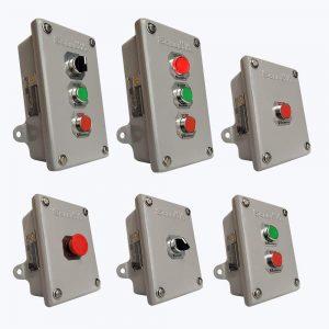 estaciones pulsadoras botoneras nema4 nema4x