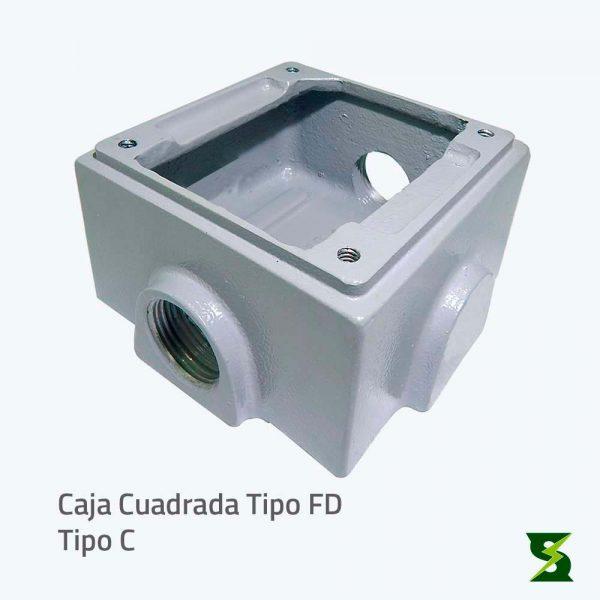 Caja cuadrada 2400 FD Nema 4 nema 4 x nema 3 a prueba de intemperie a prueba de polvo