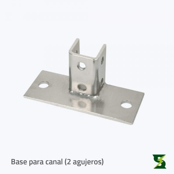 bases para canal 2 agujeros soldexel