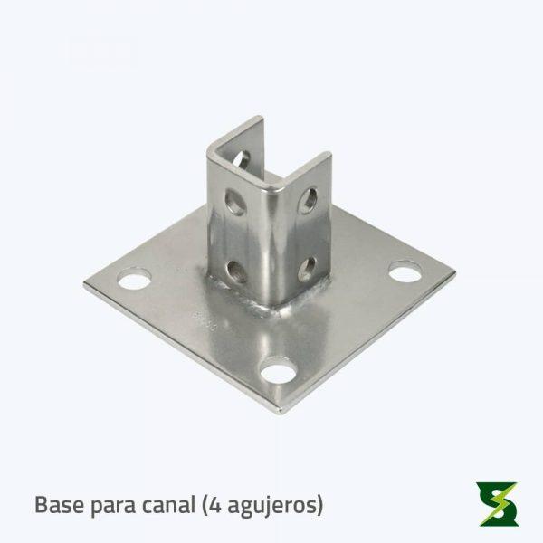 bases para canal 4 agujeros soldexel