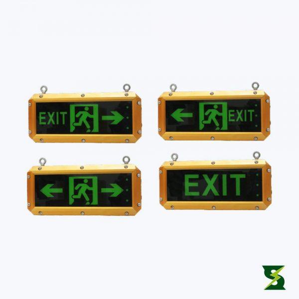 luminaria aviso de salida a prueba de explosion nema7
